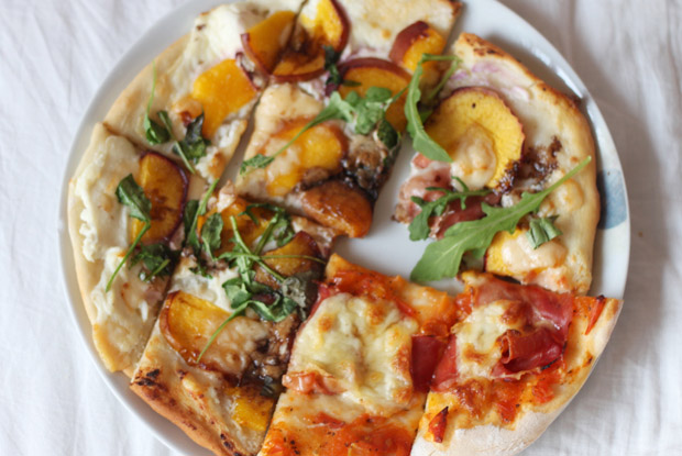 Read Recipe: Nectarine and Balsamic Pizza by April