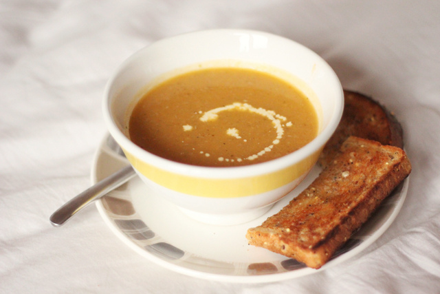 Read Recipe: Spiced Pumpkin Soup by April