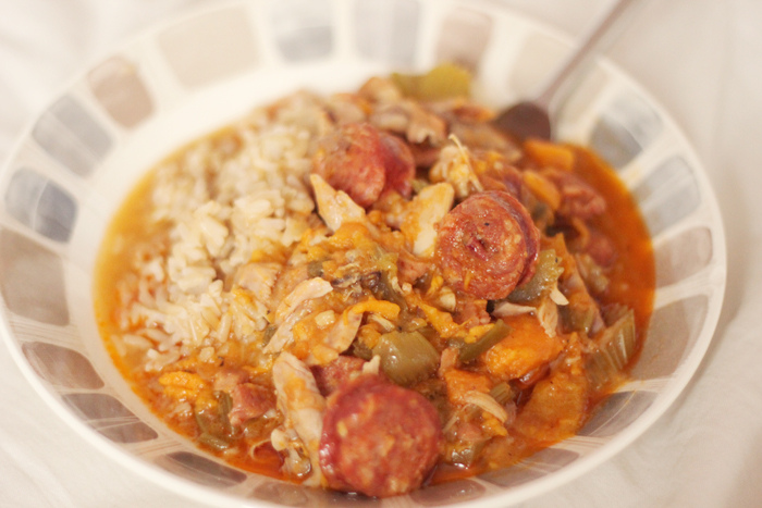 Read Recipe: Chicken & Chorizo Gumbo by April