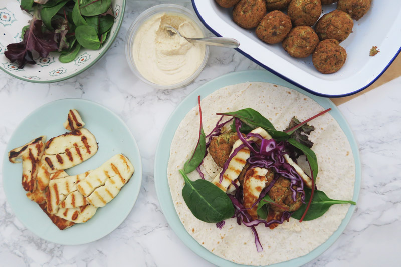 Read Recipe: Moroccan Style Falafel & Halloumi Wrap by April