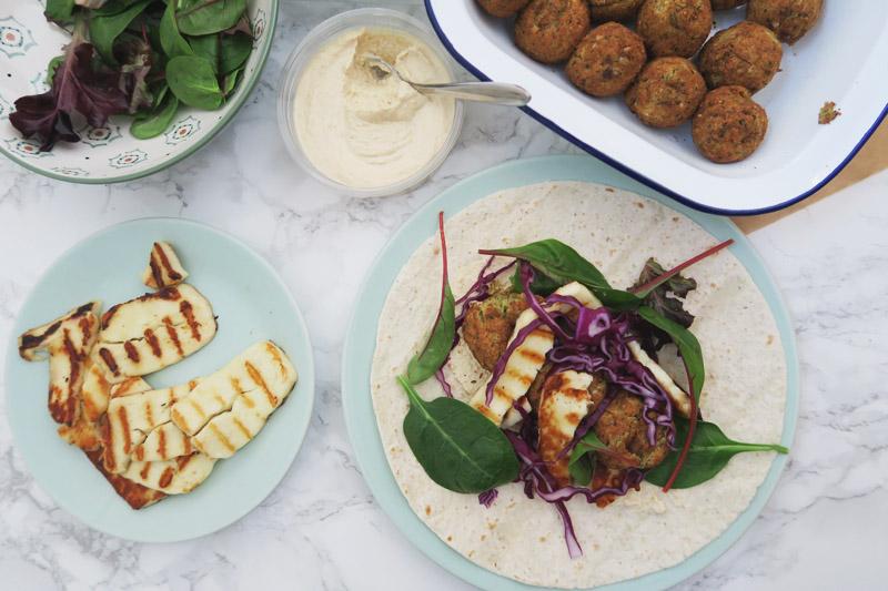Read Recipe: Moroccan Style Falafel & Halloumi Wrap by April