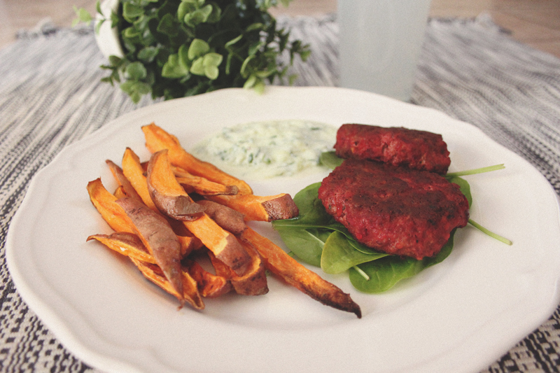 Read Recipe: Moroccan Spiced Lamb & Beetroot Burgers by April