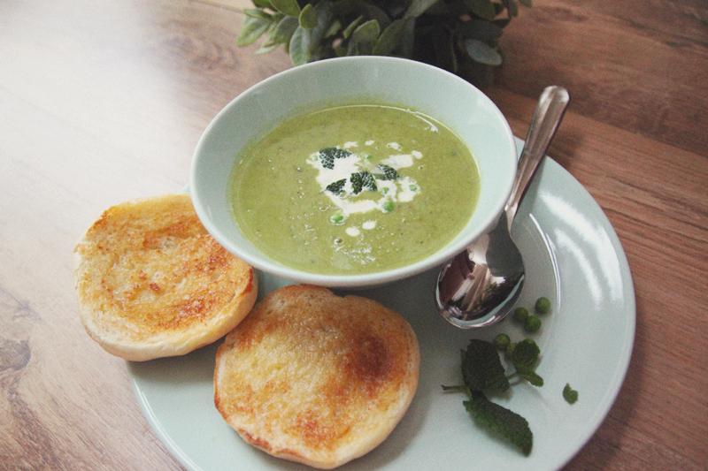 Read Recipe: Pea & Mint Soup by April