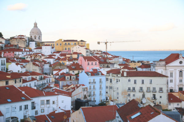 Portas do Sol Viewpoint, Alfama, Lisbon - Portugal