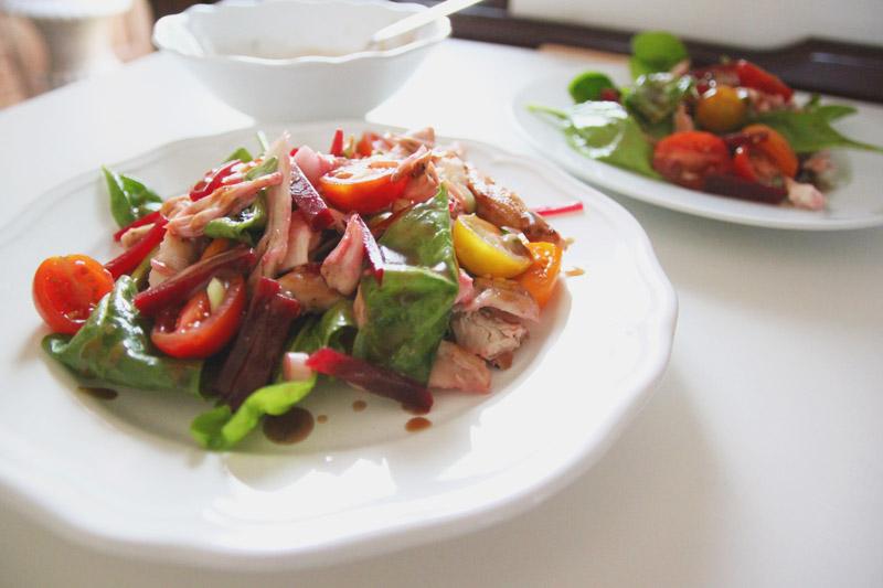 Chicken, Beet & Mozarella Salad