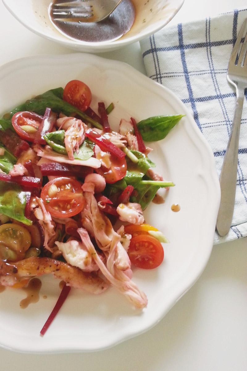 Chicken Beetroot & Mozarella Salad