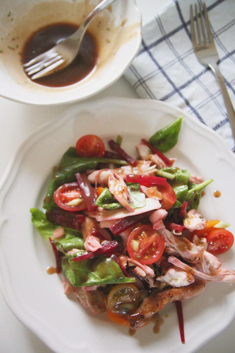 Chicken-Beetroot-Mozarella-Salad