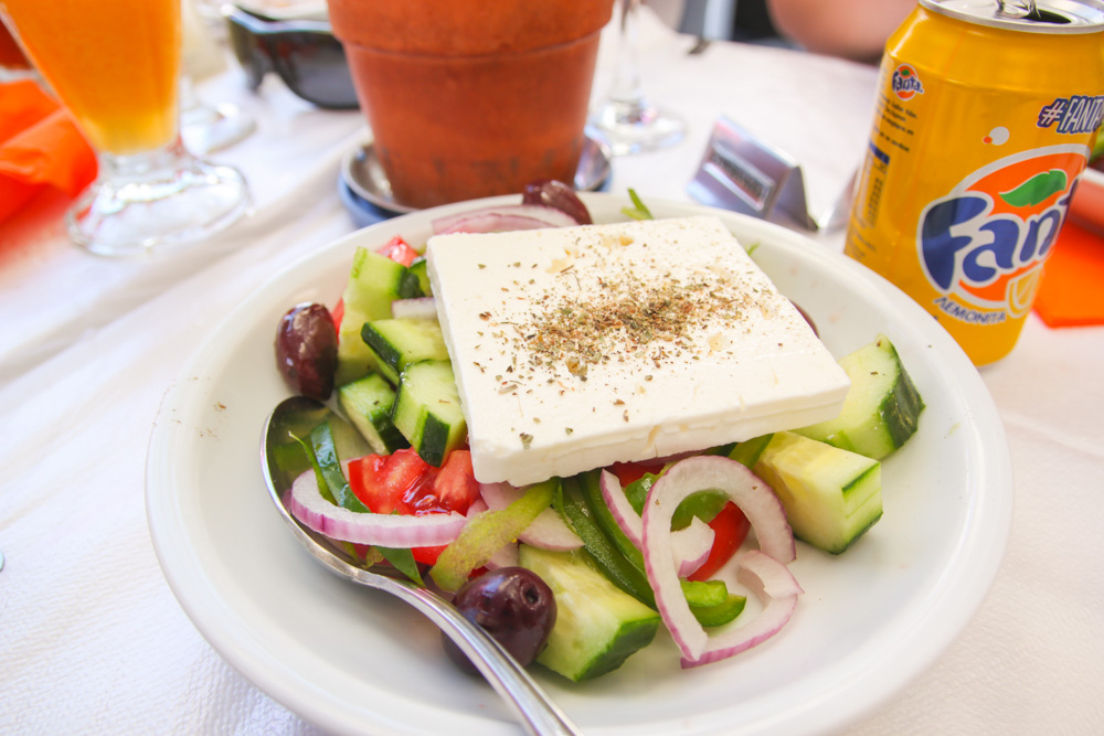 Greek Salad Mykonos Town, Greece