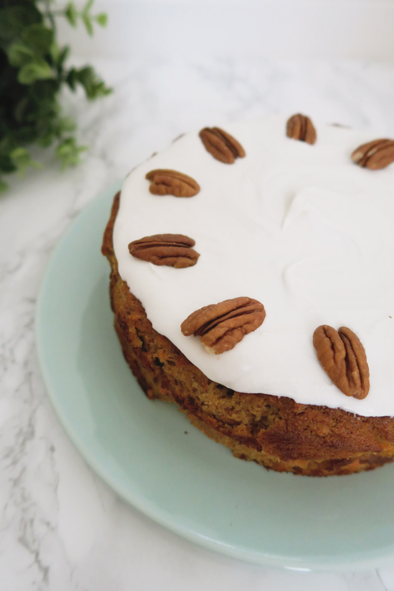 Gluten, Dairy and Sugar Free Carrot Cake Recipe