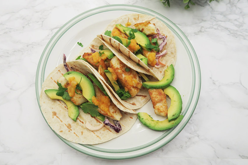 Read Recipe: Fish Tacos with Pineapple Chilli Sauce by April