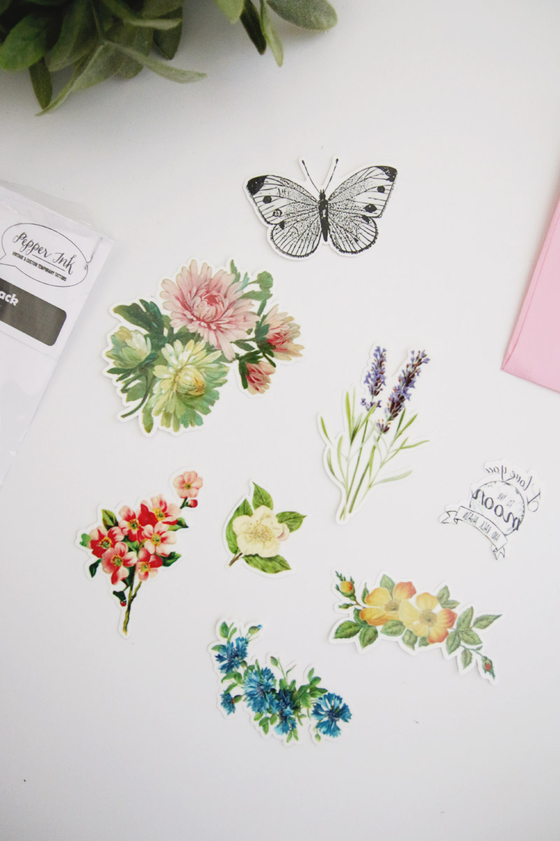 Pepper Ink Temporary Tattoos