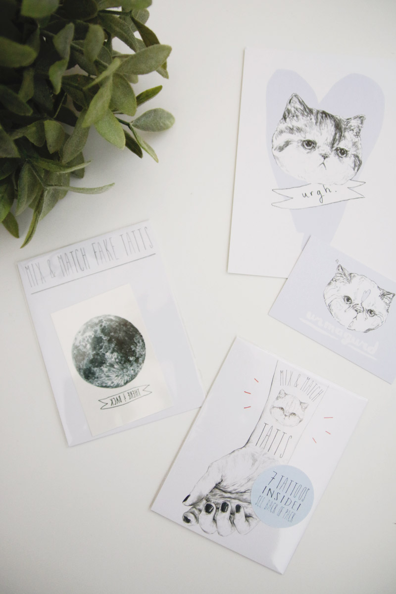 Hello Harriet Temporary Cat Tattoos