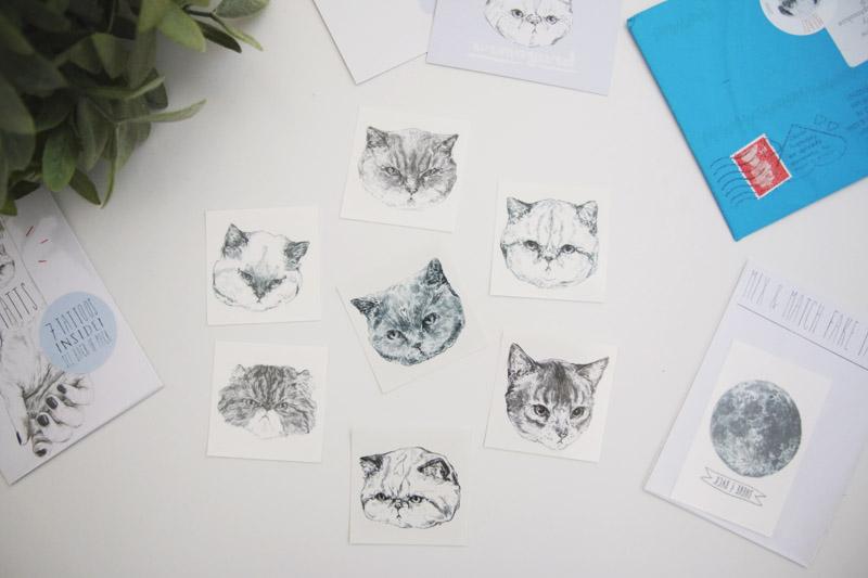 Hello Harriet Temporary Cat Tattoos