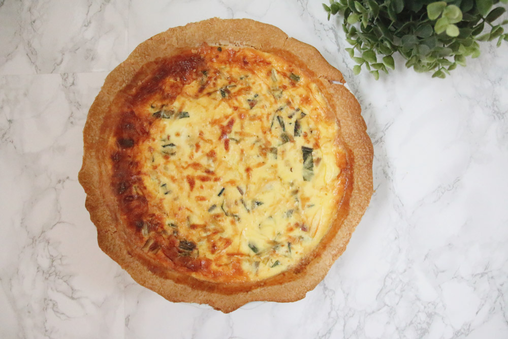 Recipe: Bacon & Rainbow Chard Quiche