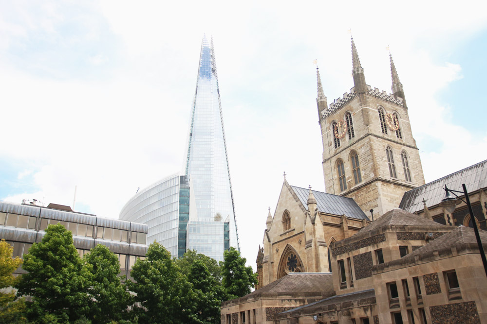 Southwark Cathedral & The Shard, London