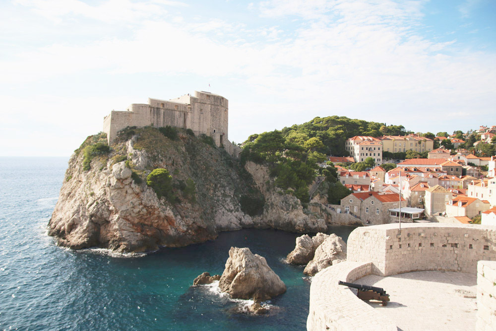 Fort Lovrijenac from Dubrovnik City Walls