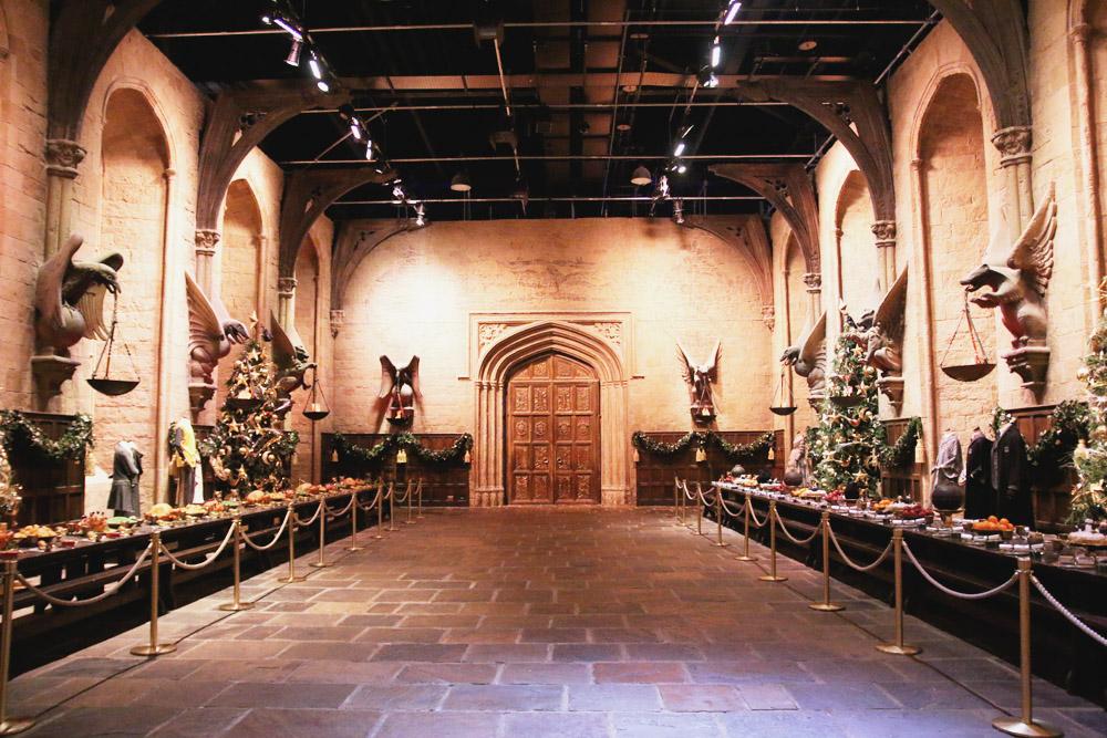 Harry Potter Warner Bros Studio Tour London Hogwarts in the SnowGreat Hall