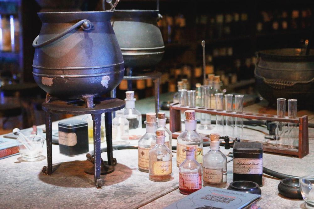 Harry Potter Warner Bros Studio Tour London Potions Classroom