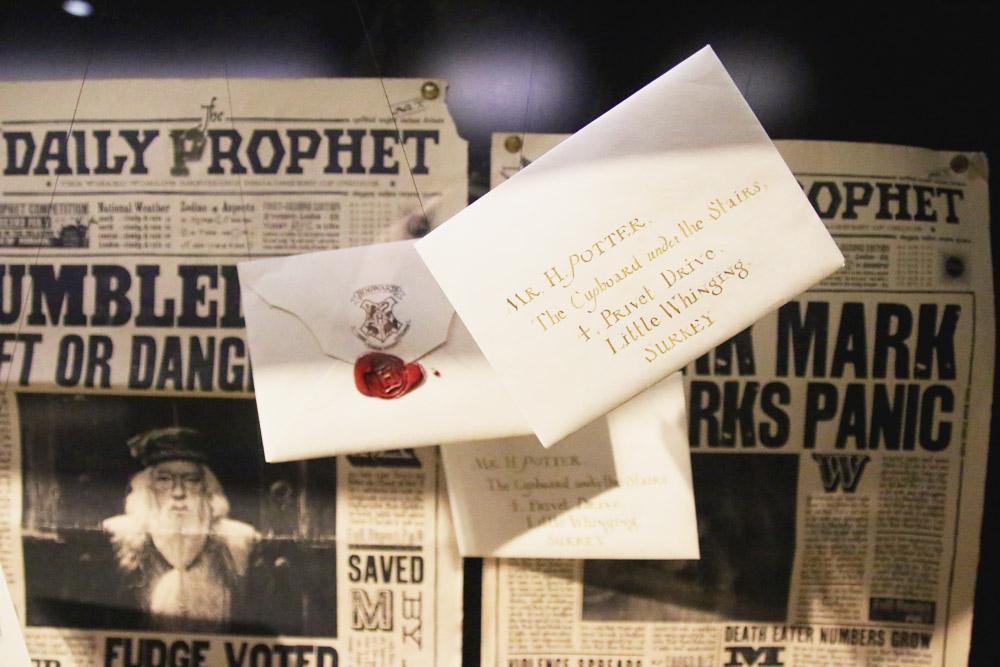 Harry Potter Warner Bros Studio Tour London Letters