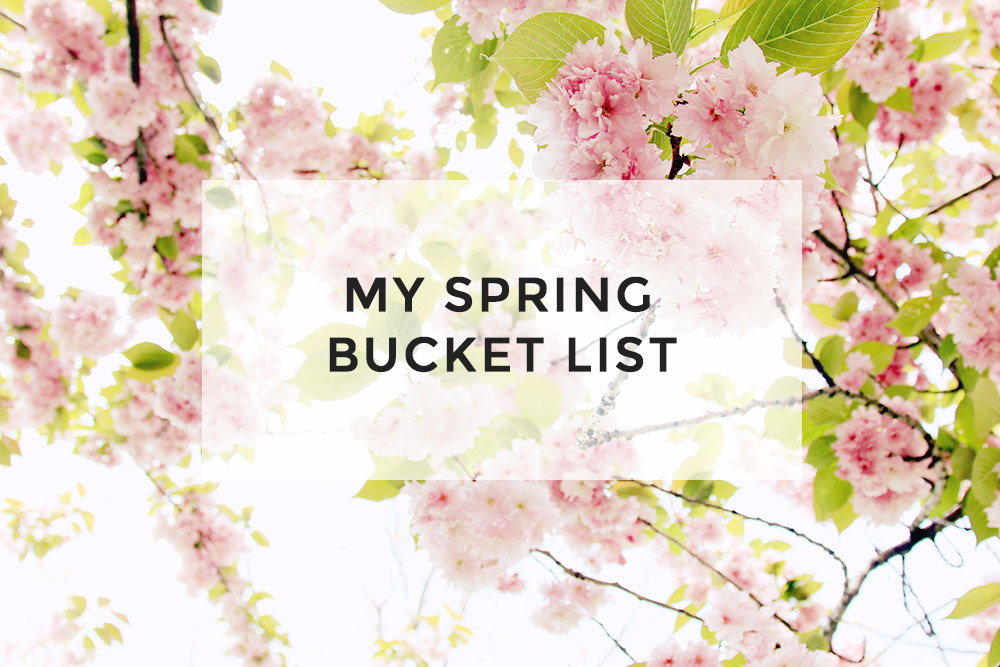 Read My Spring Bucket List by April