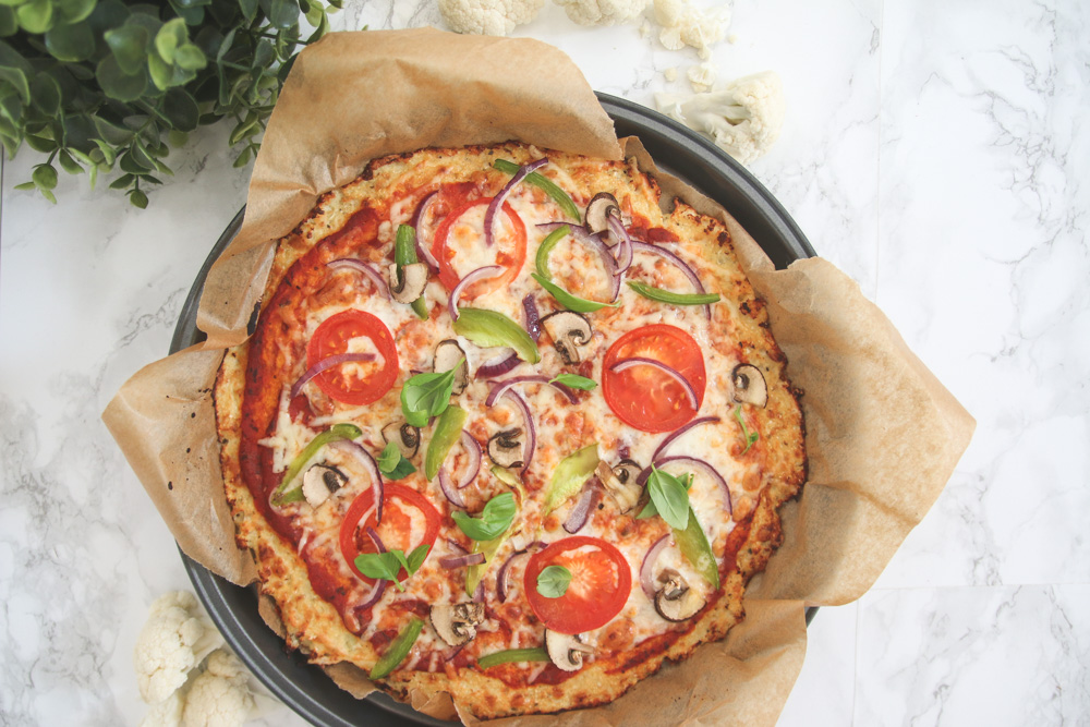 Read Recipe: Healthy Gluten-Free Cauliflower Pizza by April
