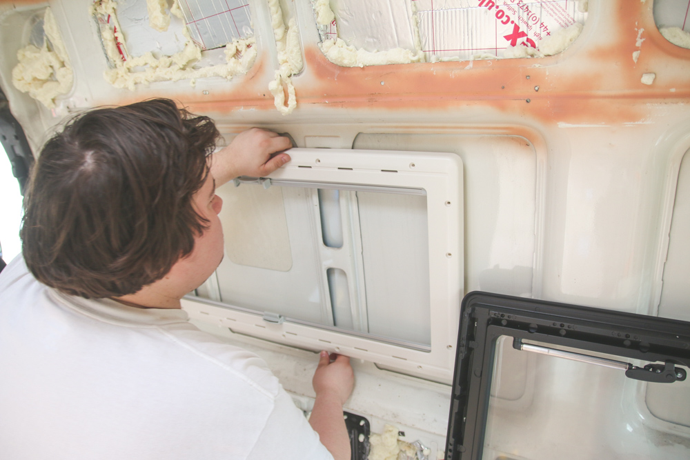 Van Conversion - Installing Side Windows