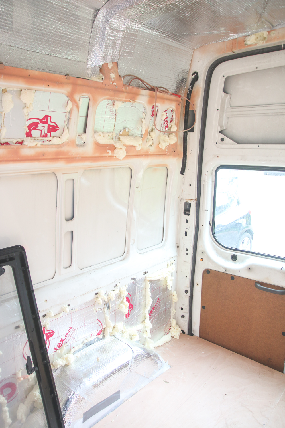 Van Conversion - Installing Side Windows