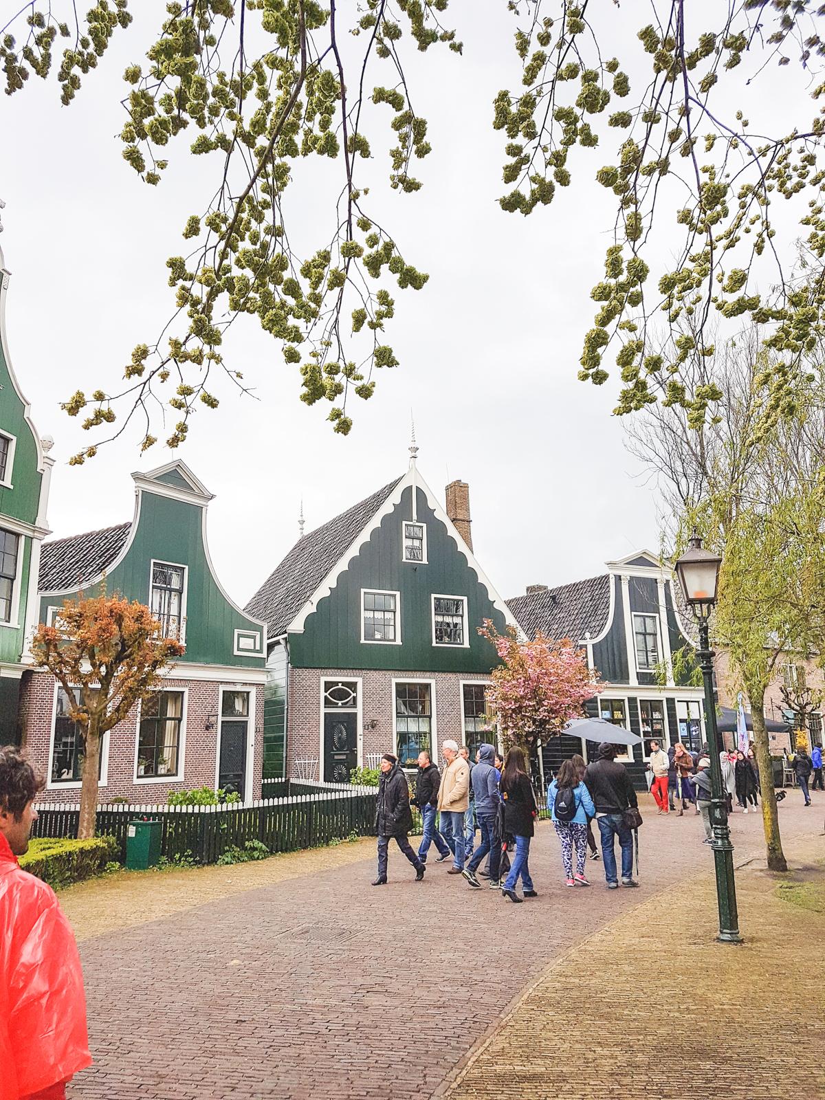Houses at Zaanse Schans, Holland, The Netherlands