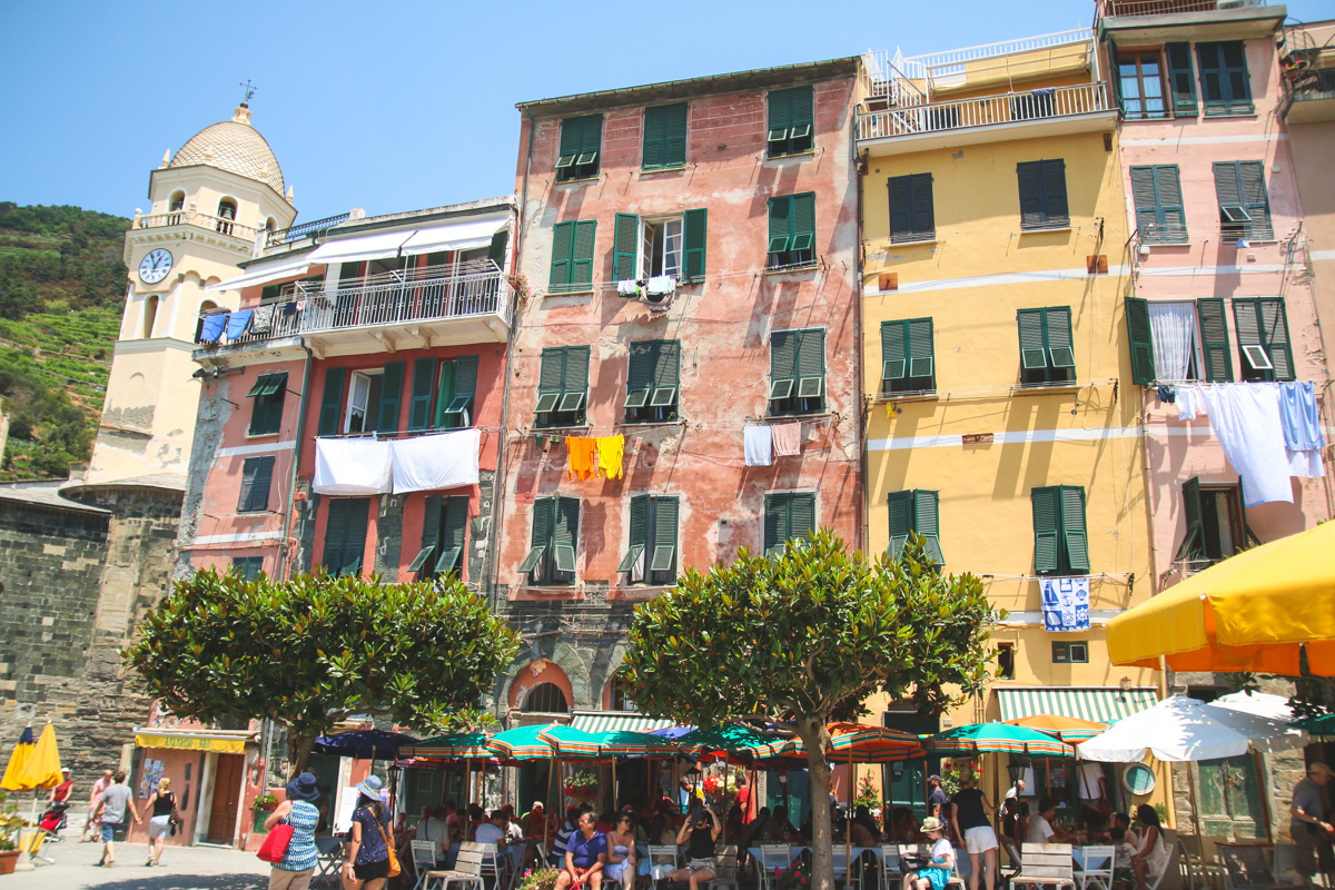 The Colourful Streets of Vernazza in Cinque Terre, Ligurai Region, Italy