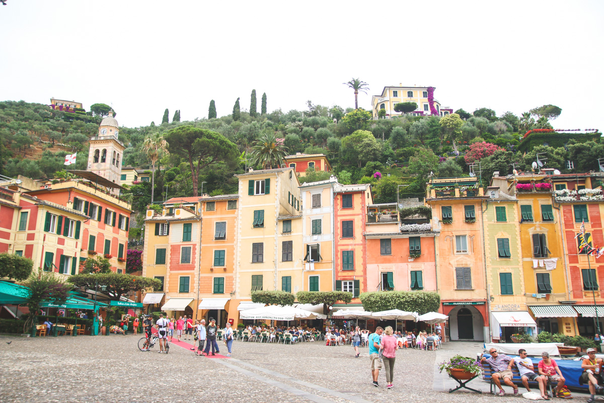 The Main Square in Portofino, Liguria, Italy.