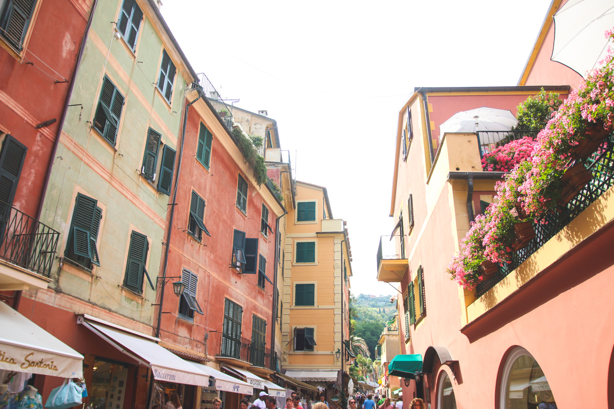 The Streets of Portofino, Liguria, Italy