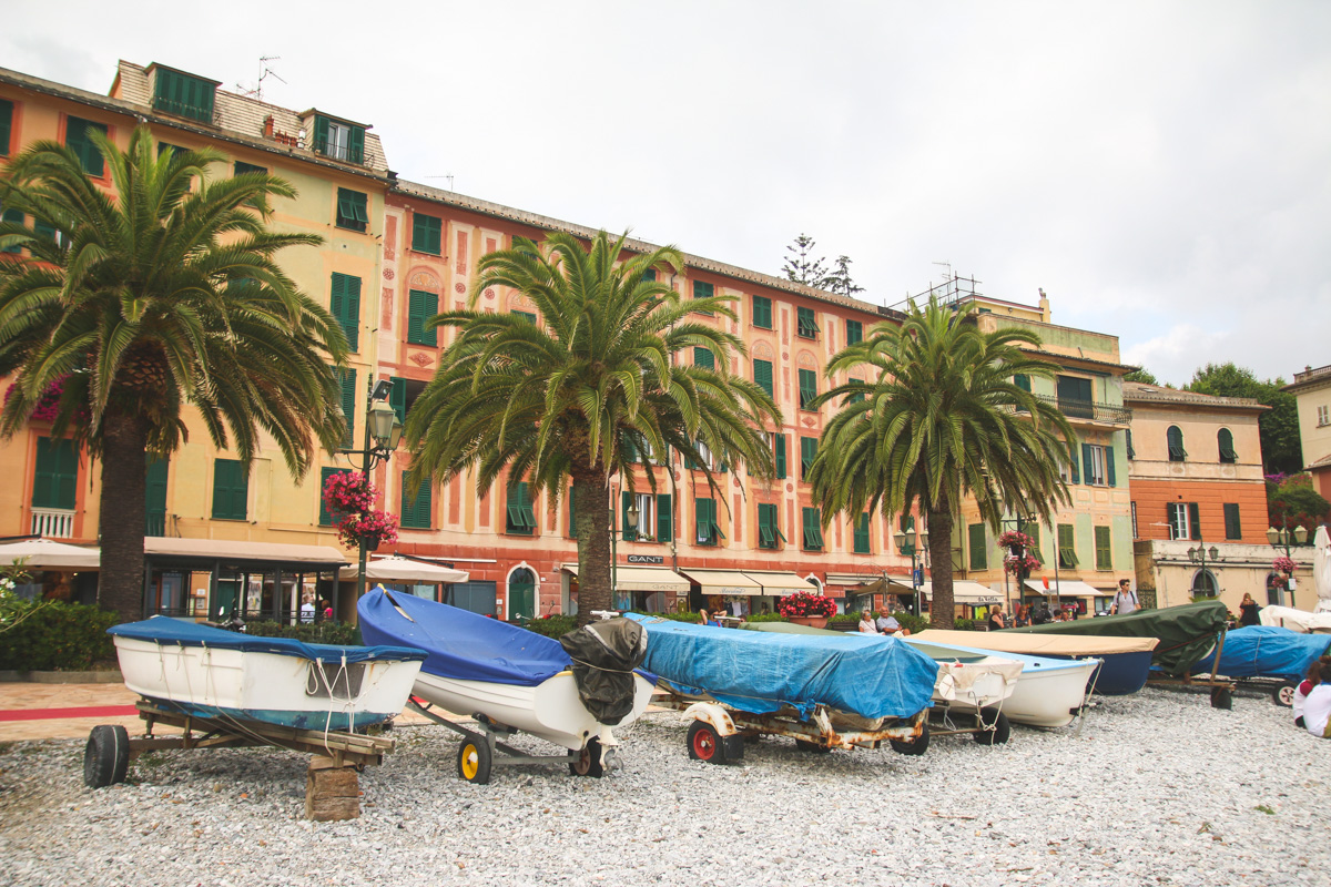 Colourful Buildings in Santa Margherita Ligure, Liguria, Italy
