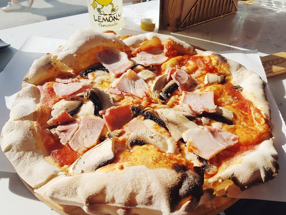 Ham and Mushroom Pizza, Great British Pizza Co Margate