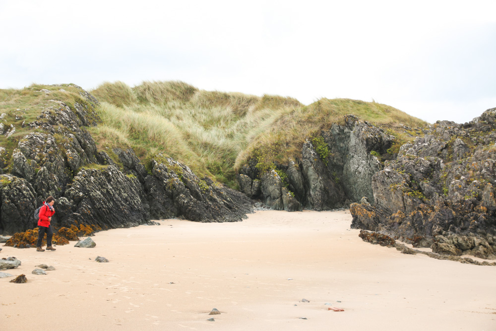 Lava Rocks on Llanddwyn Beach, Newborough Beach, Anglesey, Wales