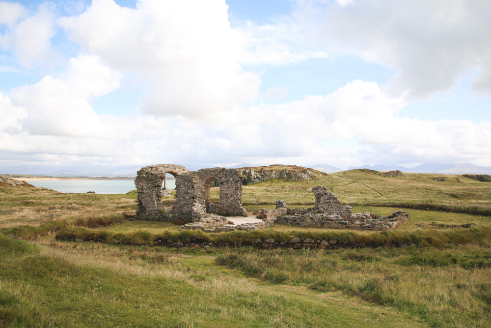 The church of St. Dwynwen, Llanddwyn Island, Anglesey