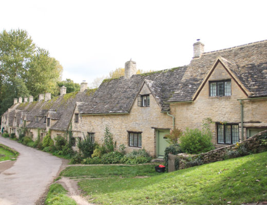 Arlington Row in the Village of Bibury, The Cotswolds