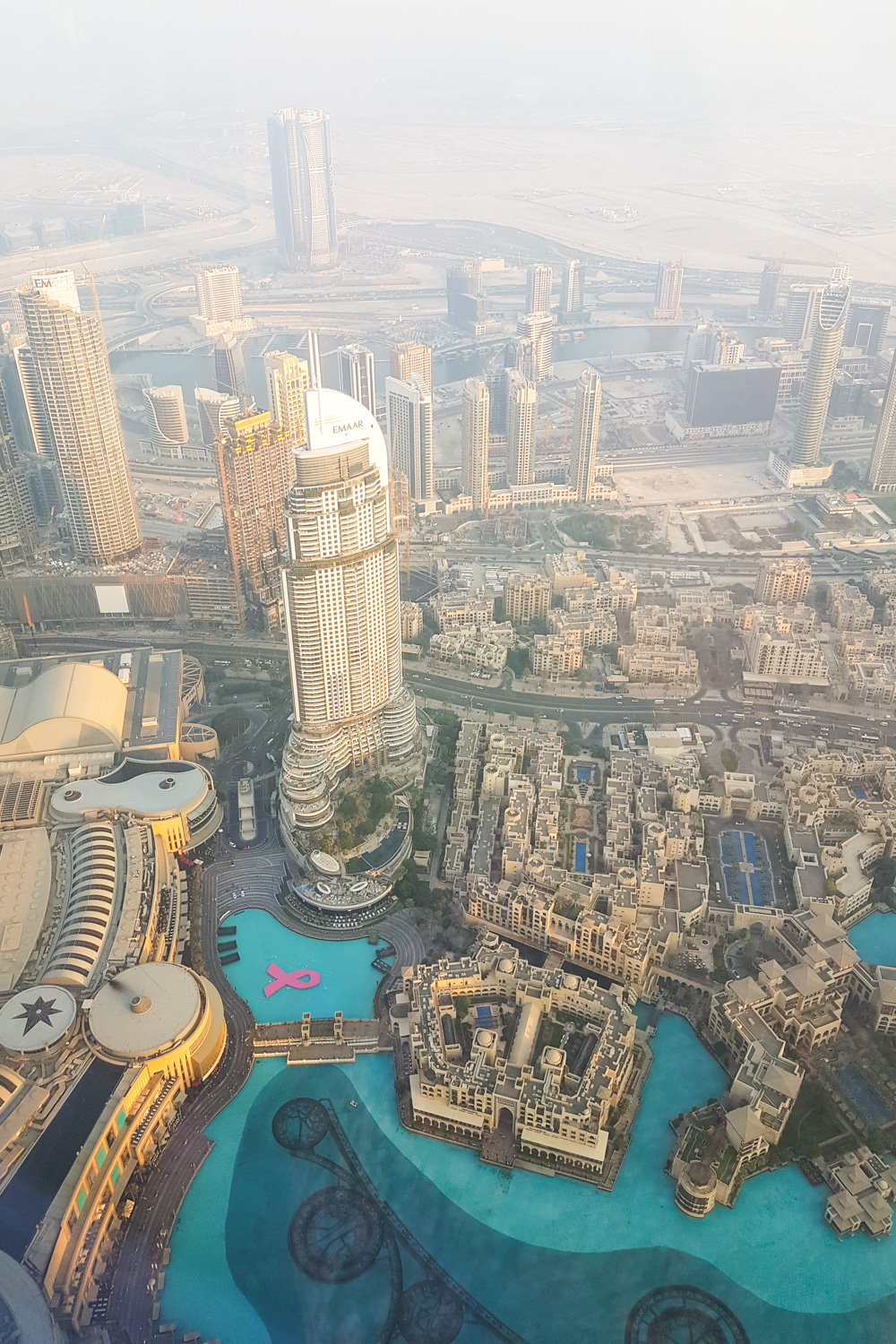 View from At The Top Burj Khalifa at Sunset