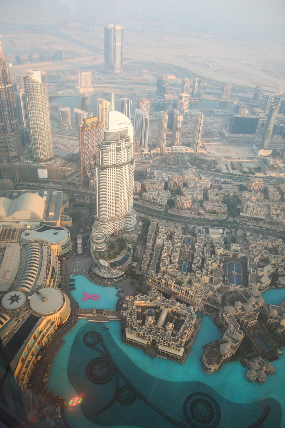 View at Sunset from At The Top Burj Khalifa
