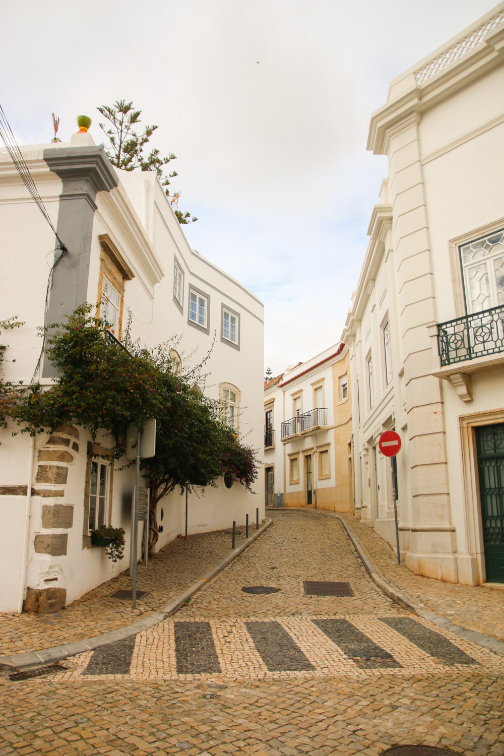 The streets of Tavira, The Algarve in Portugal