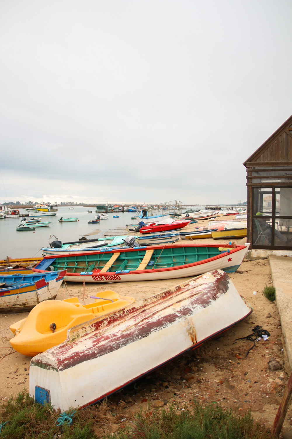 Boats in Santa Luzia, Portugal