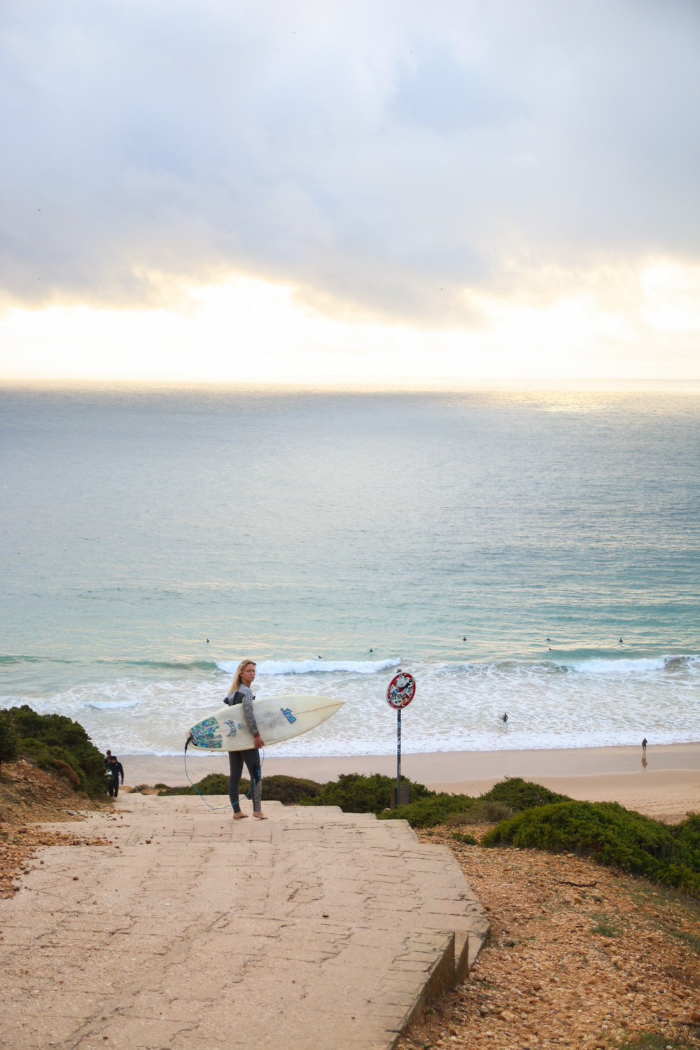 Surfers at Cabo St Vincent, The Algarve