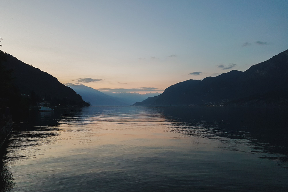Sunset at Lake Como Italy