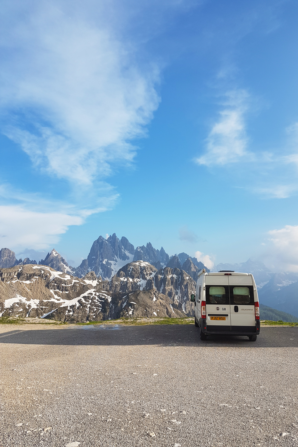 Camping at Tre Cime di Lavaredo in The Dolomites