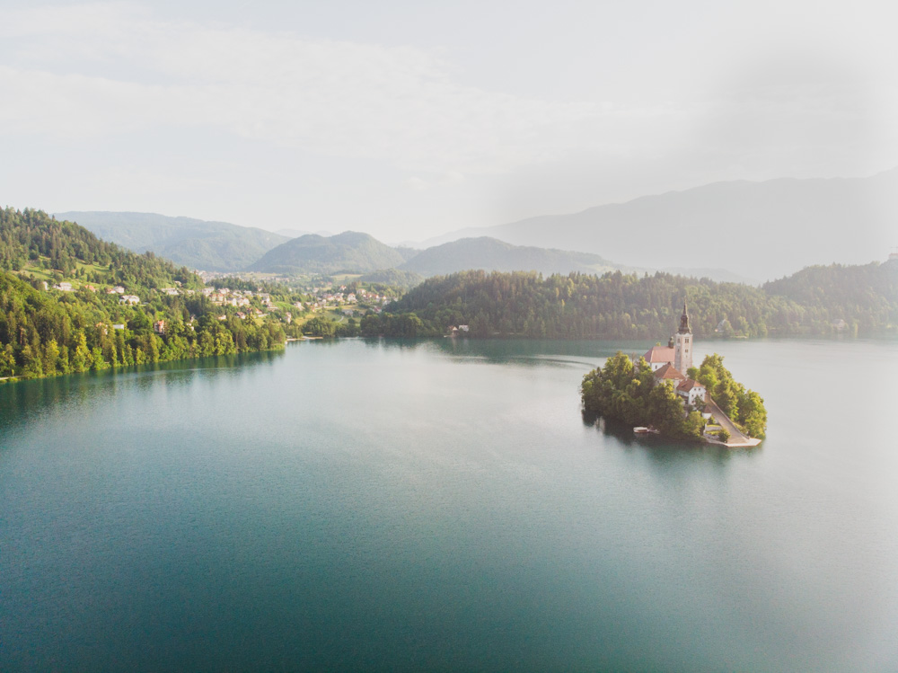 Lake Bled Drone Photo, Slovenia