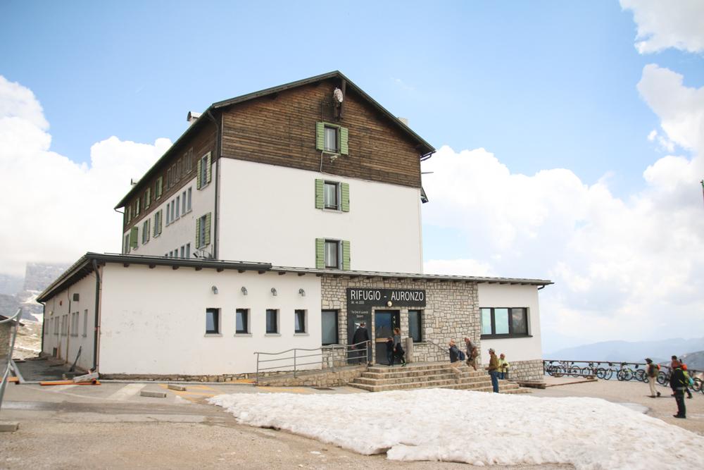 Rifugio Auronzo at Tre Cime Di Lavaredo in The Dolomites