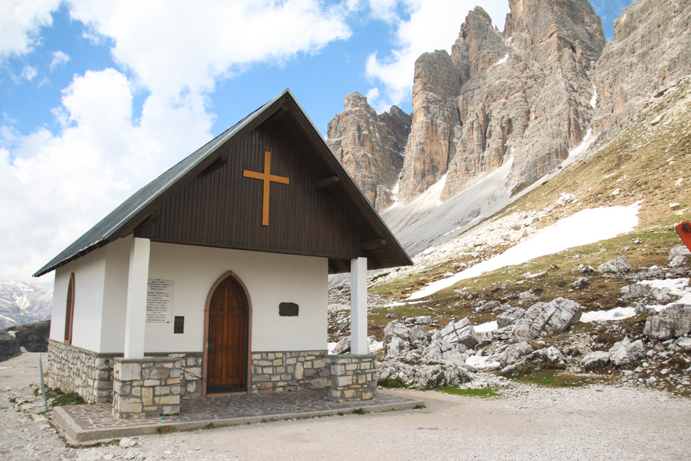 Cappella degli Alpini at Tre Cime di Lavaredo in The Dolomites