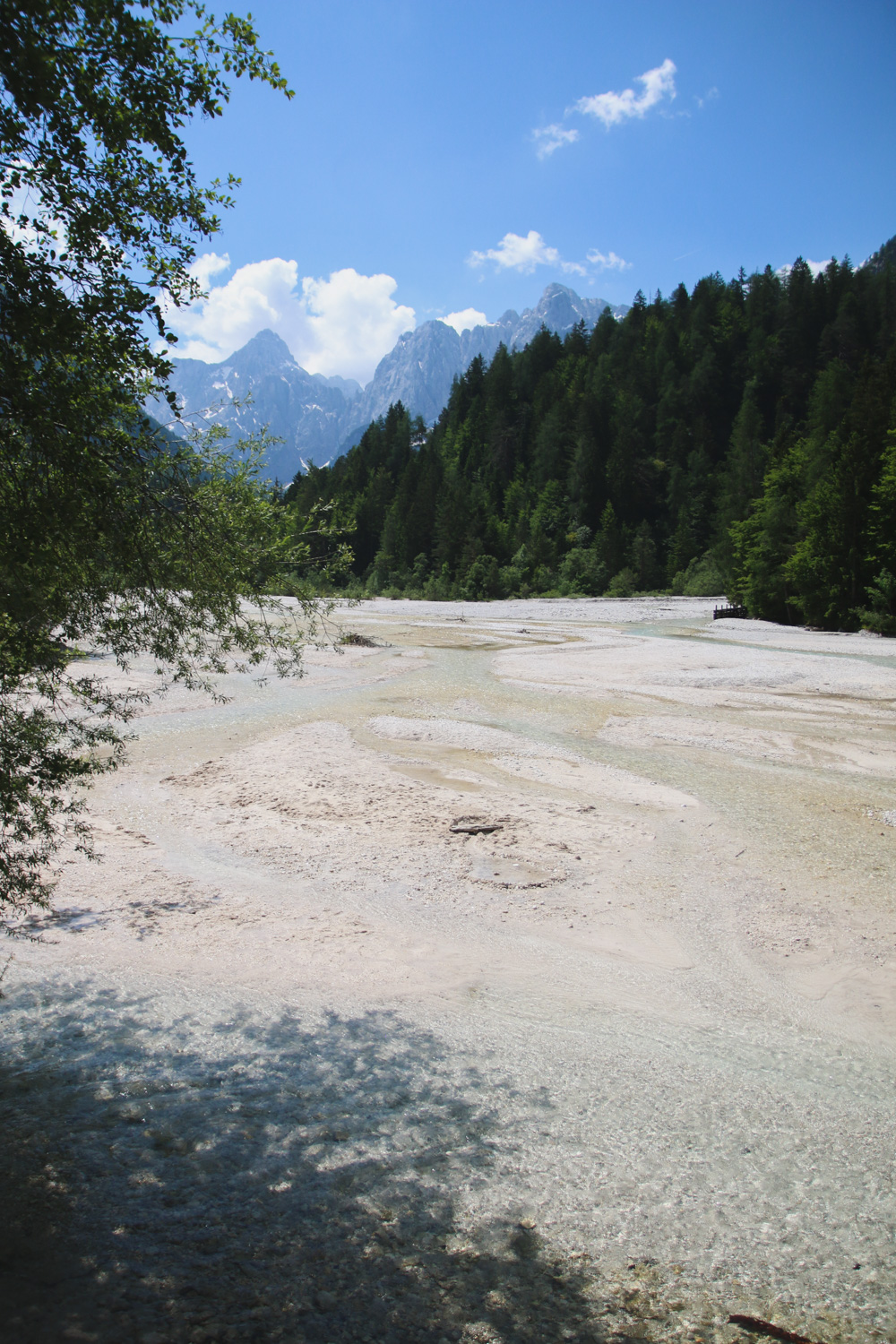 Lake Jasna at Kranjska Gora, Slovenia