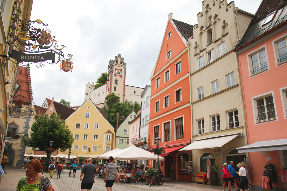 The Colourful town of Fussen, Germany
