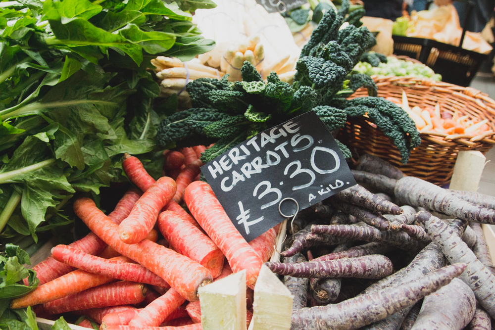 Borough Market Vegetables, London