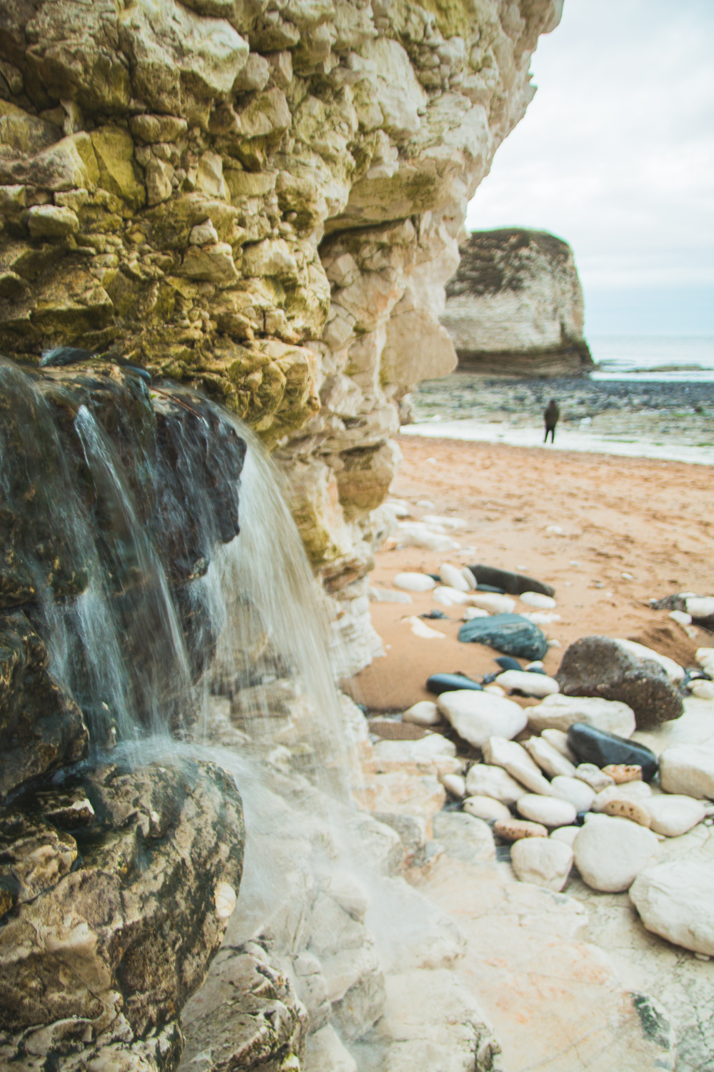 Flamborough Head Beach Waterfall, Yorkshire